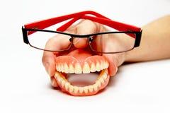 χαμόγελο γυαλιών οδοντ&o Στοκ εικόνα με δικαίωμα ελεύθερης χρήσης