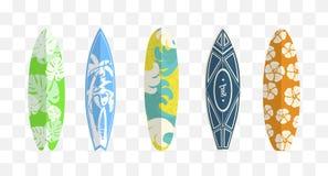 Set of surf boards royalty free illustration