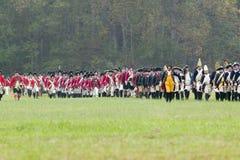 O 225th aniversário da vitória em Yorktown, Fotografia de Stock Royalty Free