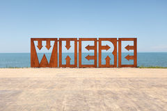 Où ? Image libre de droits