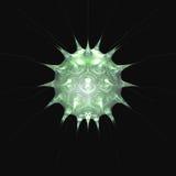o 3 mikro - zielony drobnoustroju ilustracja wektor