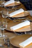 φανταχτερό σύνολο γευμάτ&o Στοκ φωτογραφία με δικαίωμα ελεύθερης χρήσης