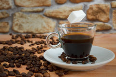 O açúcar de Coffe livra Imagens de Stock Royalty Free