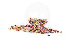 O açúcar polvilha Foto de Stock