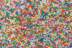 O açúcar polvilha o fundo macro do detalhe Foto de Stock Royalty Free