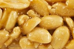 O açúcar vitrificou o kozinak, amendoins imagem de stock
