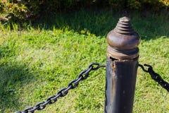 O aço e o cobre velhos barricam a deterioração e rutted Foto de Stock Royalty Free