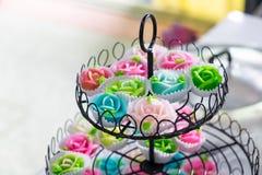 O aalaw cor-de-rosa da forma doce tailandesa da sobremesa, fascina colorido Fotografia de Stock Royalty Free