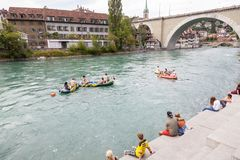O Aare em Berna, Suíça Imagem de Stock Royalty Free