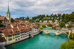 O Aare em Berna, Suíça Fotos de Stock Royalty Free