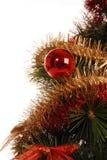 O abeto de ano novo com decoração fotografia de stock royalty free