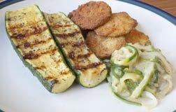 O abobrinha cozinhou três maneiras Fotografia de Stock Royalty Free