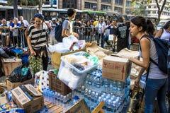 O acampamento desabrigado e tende em Sao Paulo do centro imagem de stock royalty free