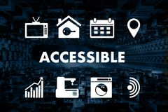 O acesso acessível de acolhimento do cumprimento bem-vindo acessível entra Imagem de Stock