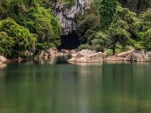 O acesso da caverna de Konglor Fotos de Stock Royalty Free