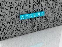 o acesso da imagem 3d emite o fundo da nuvem da palavra do conceito Foto de Stock Royalty Free
