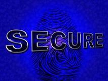O acesso seguro representa criptografia desautorizada e protege-a Fotos de Stock Royalty Free