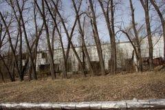 O acidente de Chernobyl Vida ap?s um desastre nuclear imagens de stock