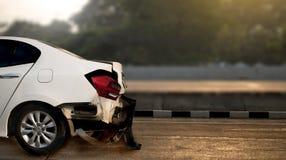 o acidente de trânsito danificou no acidente na rua, d do acidente de viação da estrada Imagens de Stock Royalty Free