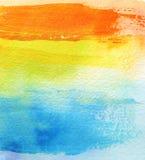 O acrílico e a aquarela abstratos escovam o fundo pintado cursos imagem de stock royalty free