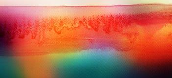 O acrílico e a aquarela abstratos escovam o fundo pintado cursos imagens de stock