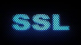 O acrônimo do SSL fixa a camada de soquetes Imagem de Stock Royalty Free