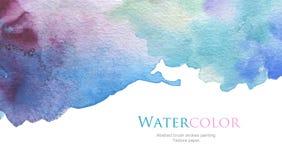 O acrílico e a aquarela abstratos escovam o fundo pintado cursos Fotografia de Stock