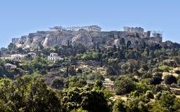O Acropolis de Atenas em Greece fotos de stock royalty free