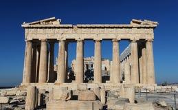 O Acropolis em Atenas foto de stock