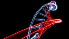 O ADN do modelo gerencie em capaz preto de dar laços em sem emenda ilustração royalty free