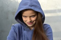 O adolescente procura a vingança foto de stock royalty free