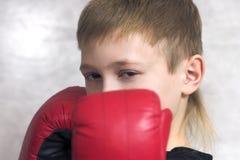 O adolescente-pugilista fotografia de stock