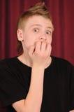 O adolescente surpreendido Imagem de Stock Royalty Free