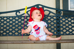 4o adorável do bebê de julho Fotografia de Stock