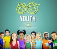 O adulto novo da juventude caçoa o conceito da criança Foto de Stock Royalty Free
