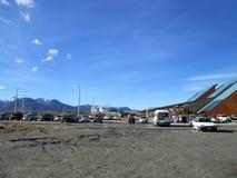 O aeroporto internacional Ushuaia de Malvinas Argentinas foto de stock royalty free