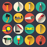 O agregado familiar utiliza ferramentas ícones Imagens de Stock Royalty Free