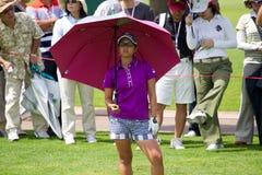 O Ai Miyazato olha em seu oponente em LPGA Malaysia Imagens de Stock