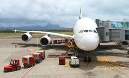 O Airbus A380 Fotos de Stock