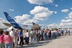 O Airbus A380 Imagens de Stock Royalty Free