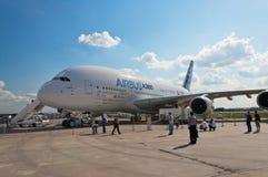 O Airbus A380 Foto de Stock Royalty Free