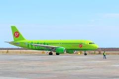 O Airbus A320 em Yamal Fotografia de Stock Royalty Free