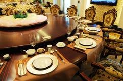 O ajuste formal luxuoso do jantar Imagem de Stock Royalty Free