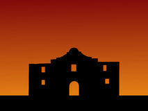 O Alamo no por do sol Foto de Stock Royalty Free