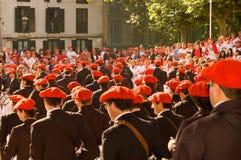 O Alarde de San Marcial em Irún Guipuzcoa, Espanha Fotos de Stock