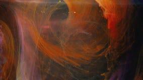 O alargamento misturado colorido da luz do redemoinho da pintura cobre o movimento vídeos de arquivo