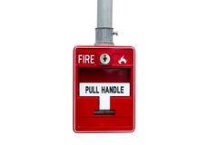 O alarme de incêndio no isolado Fotografia de Stock