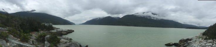 O Alaskan vê Skagway fotos de stock