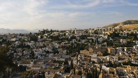 O Albaicin, o distrito árabe de Granada Fotos de Stock Royalty Free