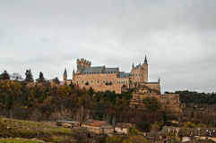 O Alcazar chamou o castelo em Segovia, Espanha Fotos de Stock Royalty Free